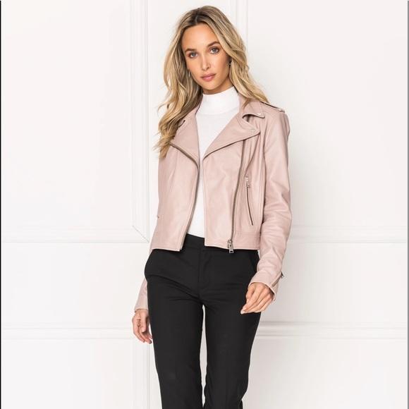 LaMarque DONNA Pink Signature Leather Biker Jacket
